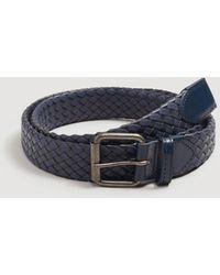 Mango - Mixed Leather Braided Belt - Lyst