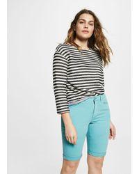 Violeta by Mango - Cotton Bermuda Shorts - Lyst