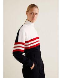Mango - Striped Cotton-blend Sweatshirt - Lyst