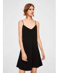 Lyst - Mango Floral-print Flowy Dress in Black d870f2069
