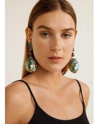 Mango - Nacre Earrings - Lyst