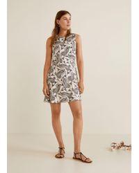 Mango - Flowy Printed Dress - Lyst c94d19ba1