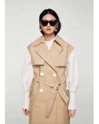 Mango - Buttons Trench Waistcoat - Lyst