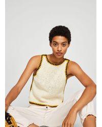 Mango - Trims Crochet Top - Lyst