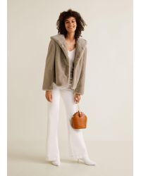 Mango - Hooded Faux-fur Coat - Lyst