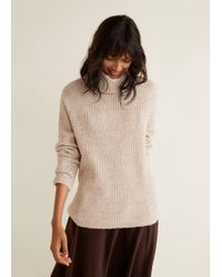 Mango - Ribbed Recycled Polyester Jumper - Lyst
