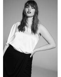 Violeta by Mango - Draped Midi Skirt - Lyst