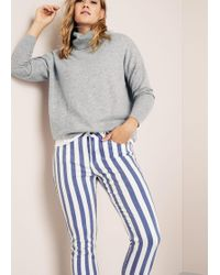 Violeta by Mango - Super Slim Striped Jeans - Lyst