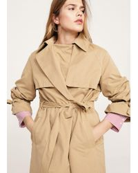 Violeta by Mango - Pleated Sleeve Trench - Lyst