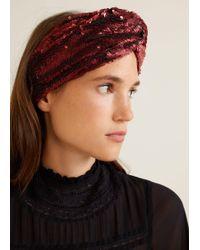 Mango - Sequins Beads Hairband - Lyst