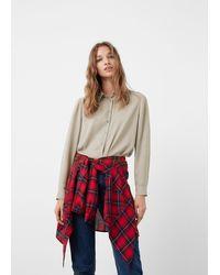 Mango - Flowy Shirt - Lyst