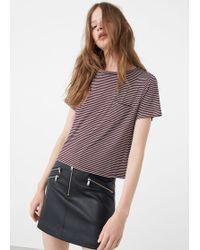 Mango - Pocket T-shirt - Lyst