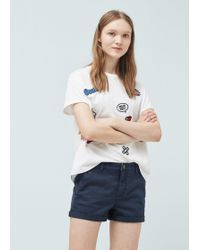 Mango | Cotton-blend Shorts | Lyst