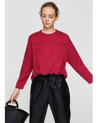 Mango - Studded Sweater - Lyst