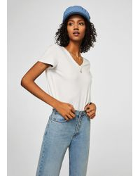 Mango - Mercerised T-shirt - Lyst