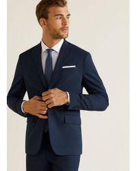 Mango - Slim-fit Patterned Suit Blazer - Lyst
