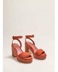 667338c156 Mango - Platfrom Ankle-cuff Sandals Burnt Orange - Lyst
