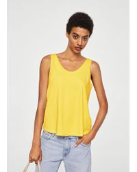 Mango - Cotton Organic Top - Lyst