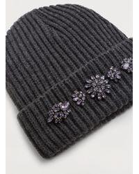 Violeta by Mango - Crystal Appliqués Hat - Lyst