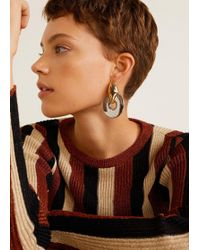 Mango - Metal Pendant Earrings - Lyst