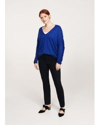 Violeta by Mango - Ruffled Sleeve Sweater - Lyst