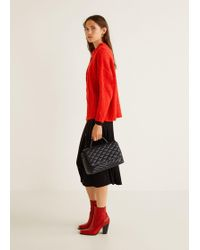 Mango - Quilted Chain Bag - Lyst