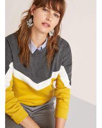 Violeta by Mango - Mixed Cotton Sweatshirt - Lyst
