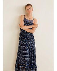Mango - Printed Strap Dress - Lyst