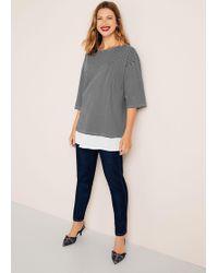 Violeta by Mango - Contrast Hem T-shirt - Lyst