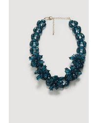 Violeta by Mango - Flower Beads Necklace - Lyst