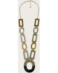 Violeta by Mango - Mixed Link Necklace - Lyst