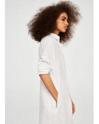 Mango - Cotton Long Shirt - Lyst