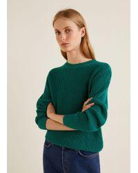 Mango - Knit Cotton Jumper - Lyst