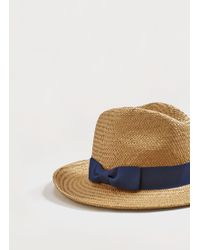 Violeta by Mango - Contrast Ribbon Fedora Hat - Lyst