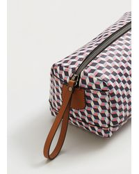 Violeta by Mango - Geometric Print Cosmetic Bag - Lyst
