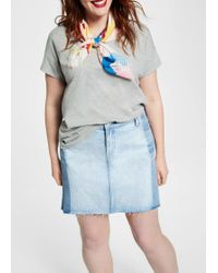Violeta by Mango - Light Denim Skirt - Lyst