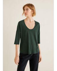 Mango - Modal T-shirt - Lyst