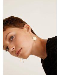 Mango - Slim Metal Earrings - Lyst