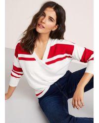 Violeta by Mango - Fine-knit Striped Jumper - Lyst
