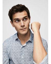 Mango - Slim-fit Tie Print Shirt - Lyst