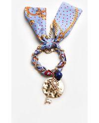 Mango - Scarf Chain Bracelet - Lyst