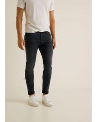 Mango - Skinny Dark Grey Wash Jude Jeans - Lyst