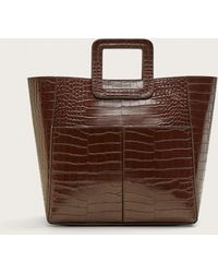 Violeta by Mango - Faux-leather Tote Bag - Lyst