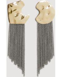 Mango - Asymmetric Chain Earrings - Lyst