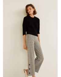 Mango - Prince Of Wales Trousers - Lyst