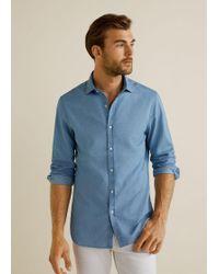 174e56e184 Lyst - Gap Linen-cotton Stripe Shirt in Blue for Men