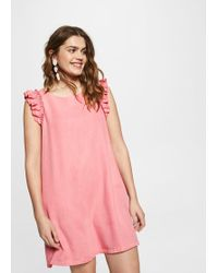 Violeta by Mango - Ruffled Soft Dress - Lyst