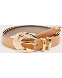 Violeta by Mango - Skinny Faux-leather Belt - Lyst