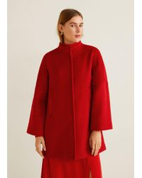 Mango - Pocketed Wool Coat - Lyst