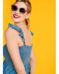 Violeta by Mango - Retro Style Sunglasses - Lyst